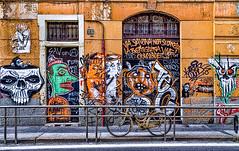 Graffiti (2) (Marco Trovò) Tags: italy graffiti italia milano case canon5d murales lombardia hdr palazzi biciclette zonatortona viasavona marcotrovò marcotrovo
