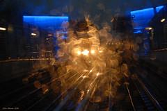 Metropolitana (Silva Marras) Tags: nikon blu explorer movimento brescia metropolitana luce raggi prospettiva rotaie linee ocra rifrazione giochidiluce metr nikon200 riverbero metropolitanaleggera