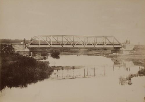 Raudteesild üle Piusa jõe / Railway bridge over the Piusa River
