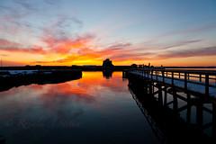 20140206-IMG_75681600 (Ron Stella) Tags: sunset reflection water reflections harbor dusk rhodeisland newport getty gettyimages newportbridge claibornepellbridge