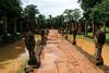 Banteay Srei - Shiva Temple Causeway (Drriss & Marrionn) Tags: travel cambodia southeastasia shiva stonecarvings hindutemple banteaysrei archeologicalsite khmerart citadelofwomen