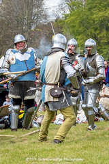 [2014-04-19@15.28.00a] (Untempered Photography) Tags: history costume fight helmet battle medieval weapon sword knight combat armour reenactment skirmish combatant chainmail canonef50mmf14 perioddress polearm platearmour gambeson poleweapon mailarmour untemperedeye canoneos5dmkiii untemperedeyephotography glastonburymedievalfayre2014