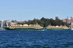 Manly Ferries Freshwater and Queenscliff cross off Garden Island (john cowper) Tags: ferry sydney newsouthwales sydneyharbour freshwater queenscliff cremornepoint