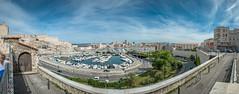 Marseille, le vieux port. (Jérôme Cousin) Tags: auto panorama port harbor marseille nikon stitch harbour pano du panoramic 28 13 tamron stitched vieux panoramique rhone massilia 2470 autopano bouches d700
