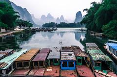 2014 9 Xing Ping (7) (SirLouisLau95) Tags: china mountain boat spring guilin yangshuo     xingping