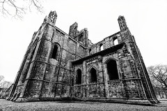Kirkstall Abbey (twistyshrimp) Tags: monochrome blackwhite yorkshire leeds wideangle kirkstallabbey tokina1116mm nikond7000