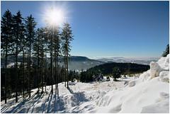 Snow and a view (FocusPocus Photography) Tags: schnee winter snow germany landscape deutschland view aussicht landschaft schwarzwald blackforest badenwuerttemberg schwarzwaldhochstrasse
