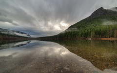 Reflect Upon (John Westrock) Tags: rattlesnakeledge wideangle nature landscape reflection clouds water clear cloudy trees canoneos5dmarkiii samyang14mmf28ifedmcaspherical pacificnorthwest pwlandscape washington johnwestrock