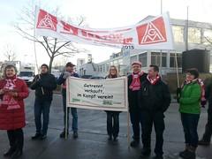 Warnstreik Valeo Wischer und Nidec, Bietigheim-Bissingen