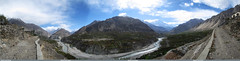 South view of Hunza Valley from Chumarkhan (gilgit2) Tags: pakistan sky panorama clouds landscape geotagged wideangle tags location elements hunza ultrawide stitched haiderabad gilgitbaltistan imranshah