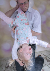Upside Down (kellyhackney1) Tags: family playing love laughing daddy fun happy play lily photoshoot upsidedown smiles niece cherub playtime piccy studiolighting lilylove