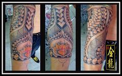 FECHAMENTO DE BRAO NO ESTILO MAORI (dragoesdeourotattoo) Tags: tattoo de no brao estilo maori livre mo pelo ouro feita fechamento rogrio drages jundia a tatuador