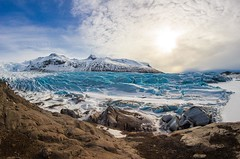 Solitary Daze (Anna Shtraus) Tags: travel winter mountain snow ice canon iceland rocks glacier fisheye tranquille canoneos100d dreamphototours