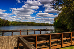 Get on board (david_sharo) Tags: trees lake water clouds landscape scenic moraine davidsharo