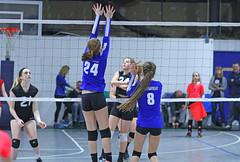 IMG_1547 (SJH Foto) Tags: school girls net club high team jump shot action teens battle teenager spike midair volleyball block tweens