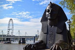 Egyptian Sphinxes (Weekend Wayfarers) Tags: city uk greatbritain travel bridge sculpture travelling westminster sphinx thames river travels europe cityscape unitedkingdom exploring travellers egypt cities cityscapes bridges statues londoneye travellings wanderlust adventure explore rivers ferriswheel traveling riverthames sculptures travelers travelblog ancientegypt eyeoflondon travelphotography travelphotographer travelblogs travelblogger travelings travelbloggers travelphotographers travelblogging weekendwayfarers