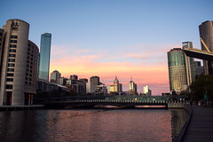 (Emily Mary.) Tags: city travel pink sunset nature landscape outdoors nikon australia melbourne adventure explore backpacking goldenhour