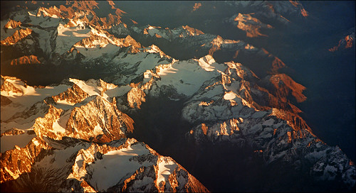 Sunset over Alps