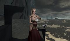 Foul Whispering (Gaea Oakleaf) Tags: castle dark landscape gothic sl fantasy secondlife macbeth foulwhispering