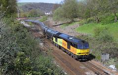 Snaking Off The Branch. (Neil Harvey 156) Tags: railway tug todmorden colas class60 caldervalley 60056 bitumentanks colasrail hallroydjunction 6e32 prestondockstanks prestontanks