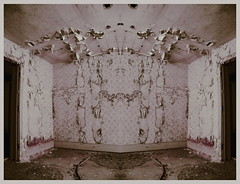 (emmakatka) Tags: door wallpaper abandoned wall hospital dark mirror diptych peeling paint alone decay doorway northdakota mirrored lonely trippy asylum derelict abandonedhospital sanhaven emmakatka