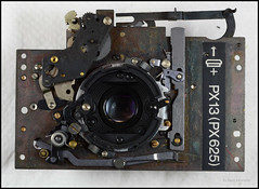 Rollei 35 Shutter Lens Plate (01) (Hans Kerensky) Tags: rollei germany lens notes side rear plate made shutter 35