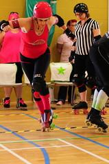 Perfect placement (sk8geek) Tags: rollerderby skaters 777 jammer toestop slamabama