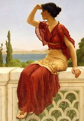 The Signal, 1899 // by John William Godward (mike catalonian) Tags: uk portrait detail female painting fulllength victorian 1890s 1899 johnwilliamgodward neoclssicism