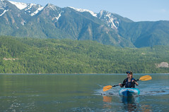 Kayaking on Slocan Lake (JeffAmantea) Tags: portrait mountain lake canada mountains sports water landscape outside outdoors 50mm nikon kayak bc view outdoor silverton paddle columbia adventure explore kayaking views british nikkor adv slocan d90 expl nikond90