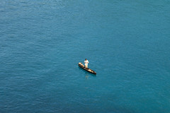 Fisherman, So Tom (CarolineG2011) Tags: africa blue sea island boat fishing fisherman sao tome principe