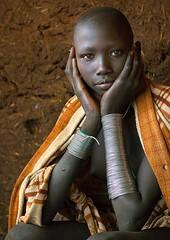 Ethiopia. Masuli, Suri teenager girl, Kibish, Omo Valley  // by Eric Lafforgue (mike catalonian) Tags: africa portrait color female photography ethiopia halflength suri ericlafforgue easternregion
