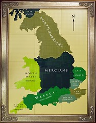 The Saxon Heptarchy (Invicta Bricks) Tags: england history kent lego britain angles northumbria essex saxon wessex bede mercia 9thcentury heptarchy