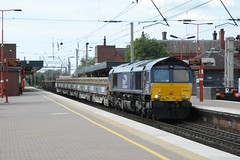 """Direct Rail Services Class 66/4, 66430 (37190 """"Dalzell"""") Tags: gm shed northwestern compass revised wigan dred generalmotors class66 drs directrailservices 66430 class664 tescotrain"""