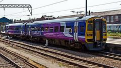 158849 (JOHN BRACE) Tags: trains class 1992 northern seen derby built 158 doncaster livery dmu brel 158849