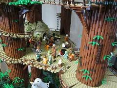 Ewokdorf - Feier 01 (KW_Vauban) Tags: starwars lego endor ewokvillage episodevi thereturnofthejedi