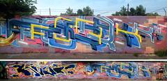 Golden Blues (FORK4 / AFX / SW307 / UBS) Tags: graffiti hungary budapest fork spray flame afx kast molotow kest fork4 apocalypsefanatix graffporn
