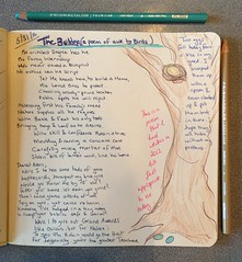 The Builder, a poem (trishahillery) Tags: bird nature robin pencils sketch poetry poem doodle write draw prismacolor birdnest illustrate freeverse originalpoem