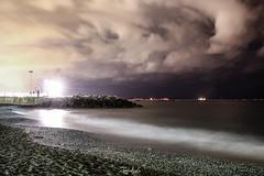 Pegli (TagliaficoGiuliaPh) Tags: light sea italy beach night long exposure mediterranean mediterraneo mare waves genoa spiaggia onde