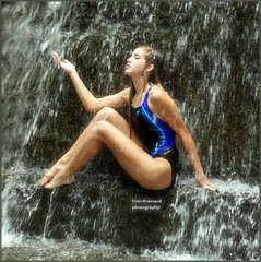 IMG_5970_ Refreshing......girl in the waterfalls (donaldbrainard1) Tags: portrait woman color wet water girl fashion female canon wonderful waterfall model pretty legs posing teen 7d lovely samantha swimsuit