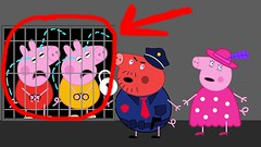 Peppa pig Crying in Prison policeman - Peppa Pig Swimming Finger Family Song For Children (Hong ng) Tags: family swimming children for pig song finger crying prison policeman peppa
