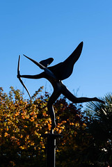 Eros (Jocey K) Tags: autumn trees newzealand christchurch sky sculpture may eros monavale