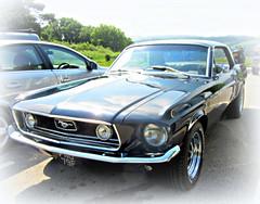 Black  Mustang .. * (John(cardwellpix)) Tags: uk ford june corner sunday surrey mustang guildford 5th sixties newlands albury 2016 merrow