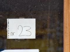 Week 23 (d_t_vos) Tags: door wood abstract window netherlands glass sign architecture three calendar symbol outdoor character bricks number week shield 23 weeks address windowframe twenty doorframe leeuwarden housenumber 2016 streetnumber dickvos weeknumber dtvos numericcharacter weeknumberproject