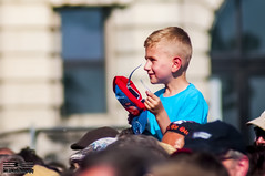 Young man watching the performance at the International Mersey River Festival - 5th June 2016 (Bob Edwards Photography - Picture Liverpool) Tags: festival liverpool river mersey