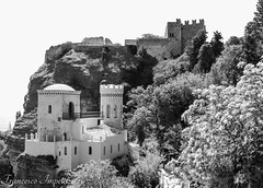 The Castle (Francesco Impellizzeri) Tags: white black castle landscape sicily sicilia erice