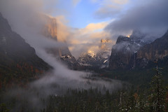 Defining Moment (Willie Huang Photo) Tags: yosemitenationalpark yosemite nationalpark fog winter storm elcapitan bridalveilfalls trees mountains sierranevada california landscape nature scenic