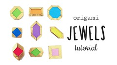 Origami Jewels & Gems Tutorial ♥︎ (paperkawaii) Tags: origami instructions paperkawaii papercraft diy how video youtube tutorial
