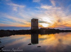 Sunset (Francesco Impellizzeri) Tags: sunset water clouds reflections landscape sicily sicilia trapani