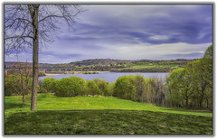 Rip Van Winkle Bridge (jsleighton) Tags: bridge sky tree grass river landscape rip hudson van catskill winkle
