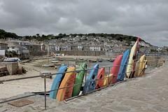 Row (ancientlives) Tags: uk travel england june boats cornwall fuji harbour saturday canoes yachts mousehole 2016 23mm fujix100s